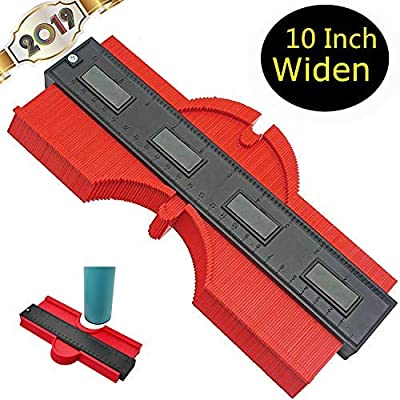 Widened Contour Gauge EZgauge Profile Gauge Shape Duplicator 10 Inch(25cm) Plastic Woodworking Shape Tracing Template Measuring Tool Precisely Copy Irregular Shapes Profile Copy Gauge Tool(10 IN)