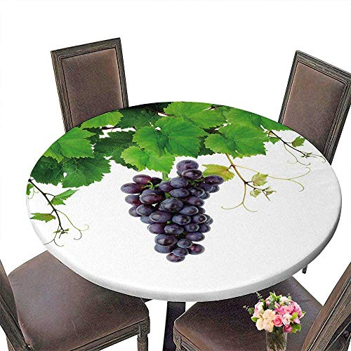 PINAFORE Round Tablecloths Isolated Grapevine and Blue Grape Dinner, Parties 50