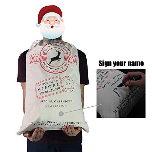 HOOPLE X'mas Present Sacks Christmas Bags for Kids Personalize Christmas Gift Wrap Santa Sacks (Random-6 packs) by Hoople (Image #2)