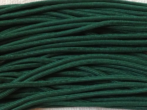 100FT Type III Dark Green Paracord 550 Parachute Cord 7 Strand Made In USA