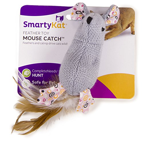 Smartykat Mouse Catch Feathered Catnip Toy