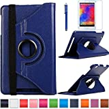 B1-810 Rotating Case, AiSMei® 360 Degree Rotating Stand Case Cover For Acer Iconia One 8 B1-810 B1-810-11TV / B1-810-16NQ 8-Inch Android Tablet PC, Bonus Stylus + Film -Navy Blue