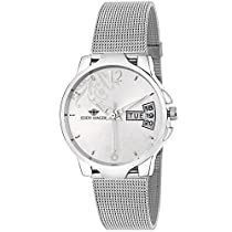 Eddy Hager Quartz Movement Analogue Silver Dial Day and Date