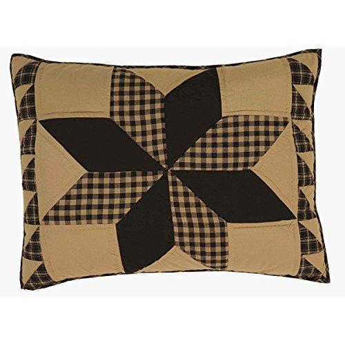 VHC Brands Dakota Star Primitive Country Patchwork Standard Pillow Sham 21