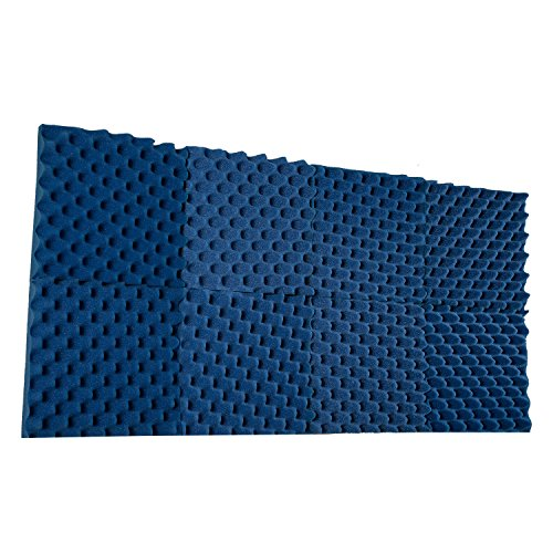 New Level 8 Pack- All Ice Blue Acoustic Panels Studio Foam Convoluted 2.5 X 12 X 12 Sound TilesEgg Crate