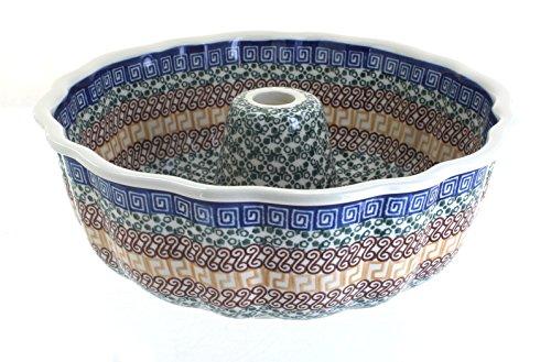 Blue Rose Polish Pottery Athena Bundt Pan