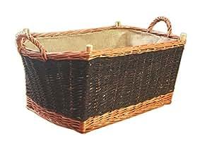 Una gran chimenea de madera cesta para le a cesta para for Cestas para lena