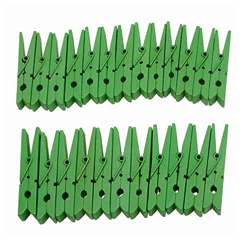 Derker Wood Craft Clothespins ,Bright Colored Clothes Pegs Pins - 24 Piece (2.9