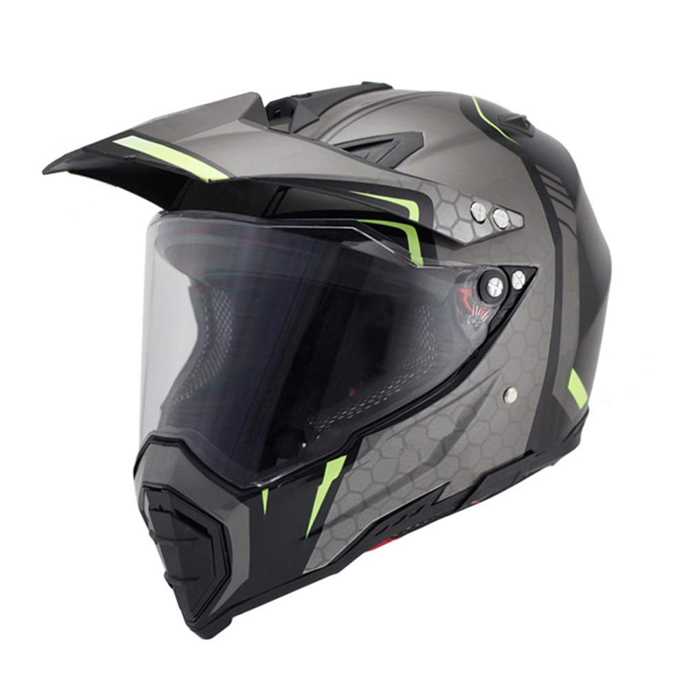 L, Black Woljay Dual Sport Off Road Motorcycle helmet Dirt Bike ATV D.O.T certified