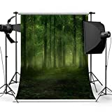 DODOING Foggy Forest Photography Background 5x7ft Studio Props Backdrop Photography Photo Background for Kids Baby Children
