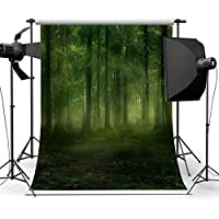 DODOING Foggy Forest Photography Background 5x7ft Vinyl Studio Props Backdrop Photography Photo Background for Kids Baby Children