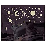 New 258 New Glow in the Dark STARS SUNS PLANETS WALL DECALS Kids Bedroom Stickers