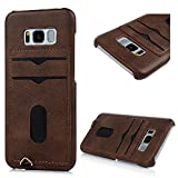 Galaxy S8 Plus Case, YOKIRIN Premium Handcrafted [Ultra Slim] PU Leather Back Case Cover with ID Credit Card Slot Holder Protective Cover Skin Shell for Samsung Galaxy S8 Plus, Coffee