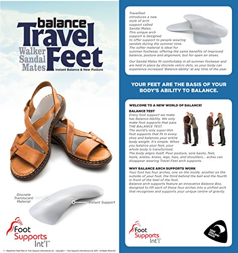 Travel Feet Sandalmate Arch Supports for Sandals and Open Shoes Orthotic Insoles by Foot Supports Int'l (Image #1)