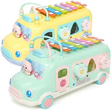 楽器おもちゃ 鉄琴 音遊び 子供用 車おもちゃ バス 積み木 知育玩具 おままごと 打楽器 シロホン グリーン