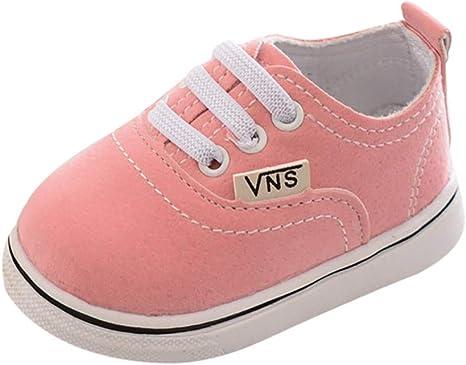 Urmagic Chaussures de Marche pour Bébés Garçons Nouveau né Filles Doux Semelle Baskets Chaussures de Toile Prewalkers