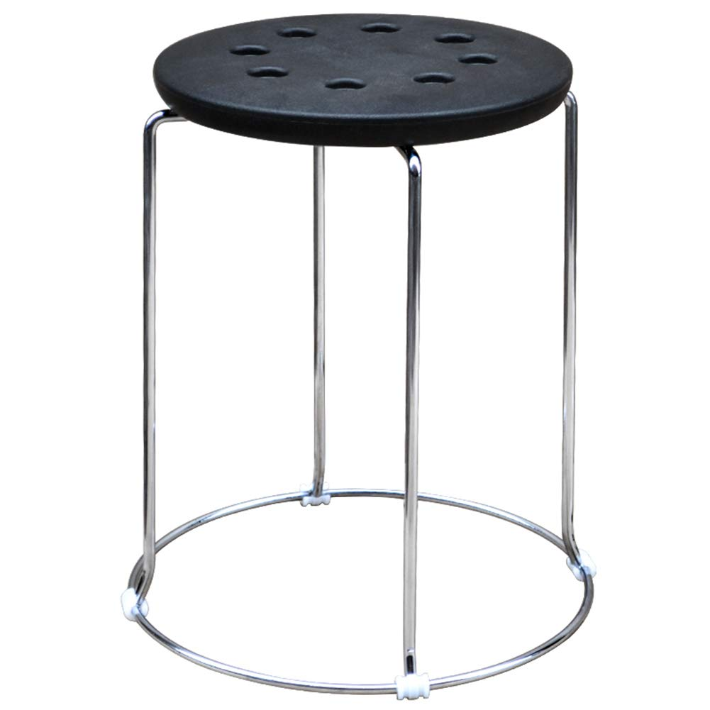 Black ZHAOYONGLIstools Footstool Work Stool Beauty Stool Shower Stool Step Stool Leisure Household Small Bench Black Multifunction Household Creative (color   Black)