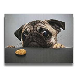 Pug Frameless Wall Art Pictures Decorative Oil Paintings For Kitchen Living Room Bedroom Decoration Home Decor