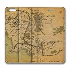 """Lilyshouse Middle Earth Map 001 Leather Cover Case for Iphone 6(4.7"""") by ruishername"""