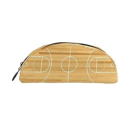 Estuche de madera para lápices de baloncesto para niños, gran ...