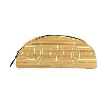 Estuche de madera para lápices de baloncesto para niños ...
