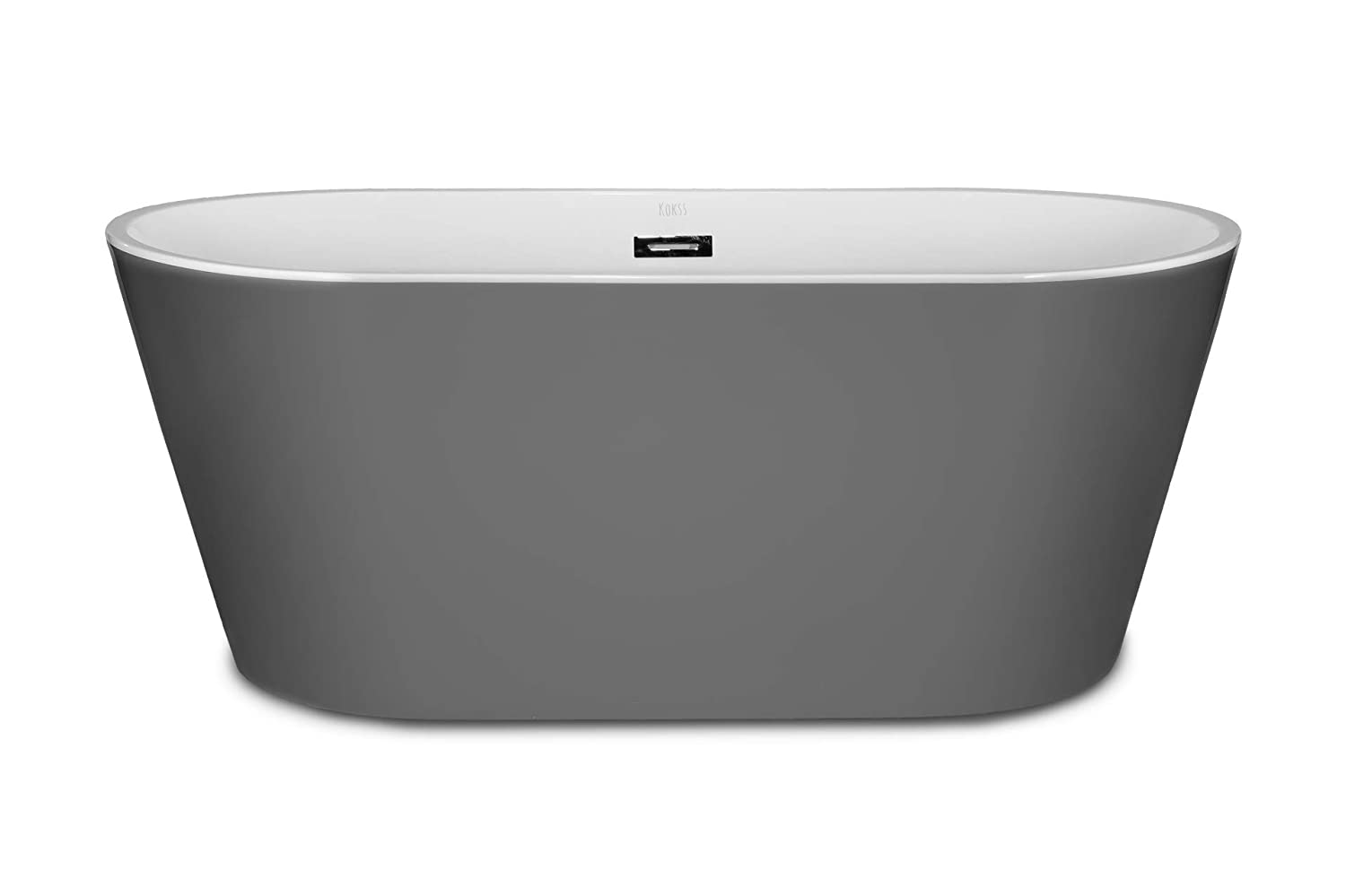 1001now Lugano 60 Grey Freestanding Acrylic Bathtub Amazon Com
