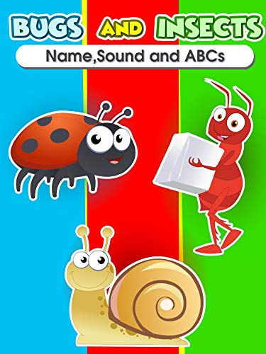 Bugs and Insects - Name Sound and ABC (Baby Bumble Bee Video)