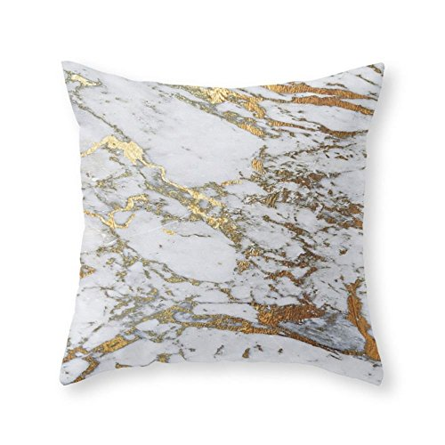 Society6 Gold Marble Throw Pillow Indoor Cover  with pillow