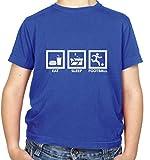 Eat Sleep Football - Childrens / Kids T-Shirt - Royal Blue - L (9-11 Years)