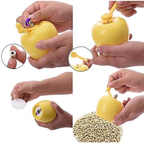 Moligh doll Kreative Apfel Form Manual Kaffee MüHle, KüChe Salz Pfeffer MüHlen für Haus BüRo Reisen Camping (GrüN)