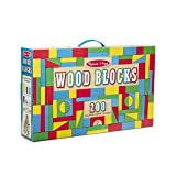 Melissa & Doug Wooden Building Blocks Set (Developmental Toy, 200 Blocks in 4 Colors and 9 Shapes)