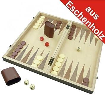 Backgammon Spiel Eschenholz 38x38x2 5cm Holzintarsien Tavli Amazon