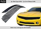 2010 camaro grille - APS for 2010-2013 Chevy Camaro LT/LS V6 Stainless Steel Black Billet Grille Combo #N19-J72016C