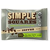 Simple Squares Paleo Protein Bars | Organic, Non GMO, No Dairy, Low Carb, Gluten Free Paleo Snacks Naturally Made For Paleo, and Low Sugar diets. (Coffee Nuts & Honey - 12 Pack)