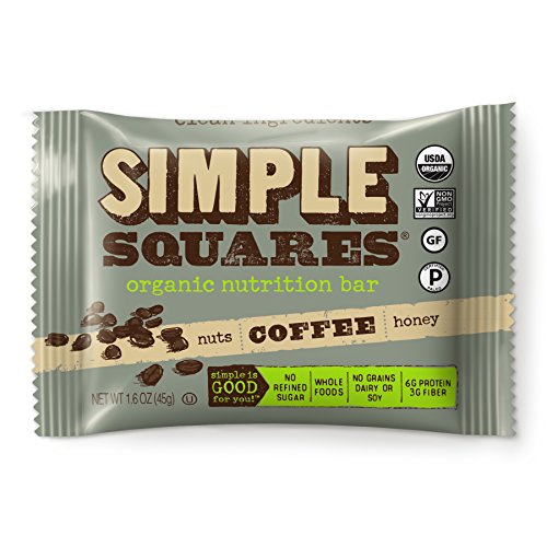 Square Treats (SIMPLE Squares Treats - Organic Nut and Honey Bar Cookies - Yummy with Breakfast and with Coffee - no sugary dates! - (1.6 oz bars) (Coffee Nuts & Honey, 12-pack))