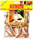 Bosmere Pot Toes, Terra-cotta (Pack of 12)