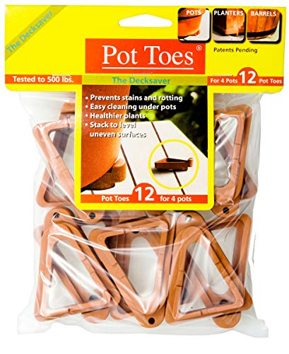 IGC Cartanna Plantstand PT-12TCHT 12-Pack Terra Cotta Pot Toes, 1, Gray