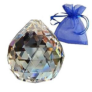 Bola de cristal ø 40 mm en bolsa de regalo - arco iris de cristal - vidrio de cristal - Exclusivo esoterismo