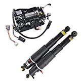 Pair Air Suspension shocks+Compressor Pump 15254590,19299545,20930288