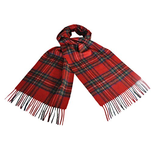 Celtic Irish Wool Scarf With Red, Green & Blue Design 12