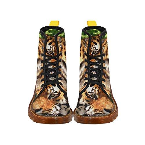Scarpe Da D-story Tiger Lace Up Martin Boots Da Donna