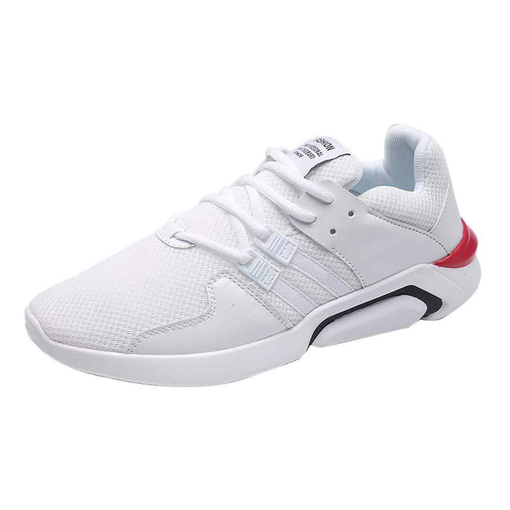 JiaMeng Moda Zapatillas Running para Hombre Aire Libre y Deporte Transpirables Zapatillas de absorción de Choque Zapatos Deportivos Suaves Casuales: ...