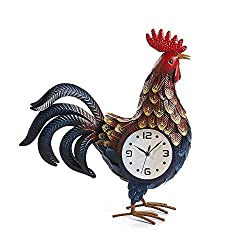 Rooster Desk Clocks with Changing Light