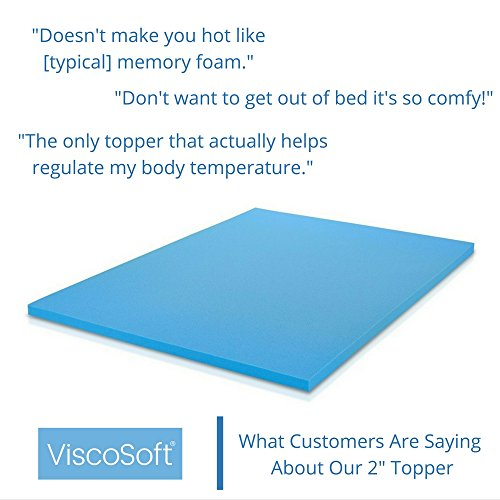ViscoSoft 3 lb. Density 2-Inch Gel Infused Memory Foam Full Mattress Topper