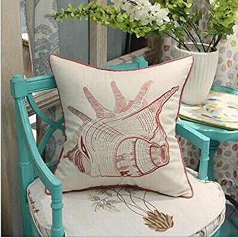 Large supply of factory embroidered cotton cushion covers / pillow cover pink conch pillow / lumbar fabric sofa