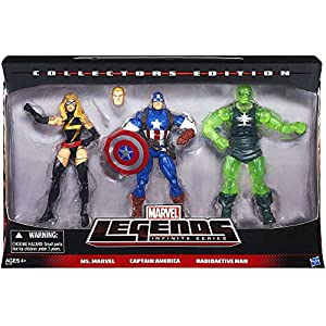 51cTiduHH3L. SS300 Marvel Legends Infinite Collectors Edition Ms. Marvel. Captain America & Radioactive Man by HASBO
