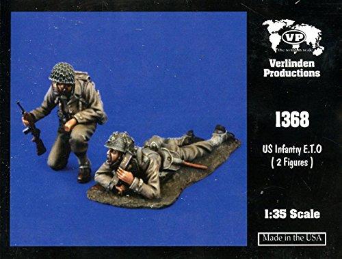 Verlinden 1:35 US Infantry ETO 2 Resin Figures Kit #1368 (35 Verlinden 2 Figure)
