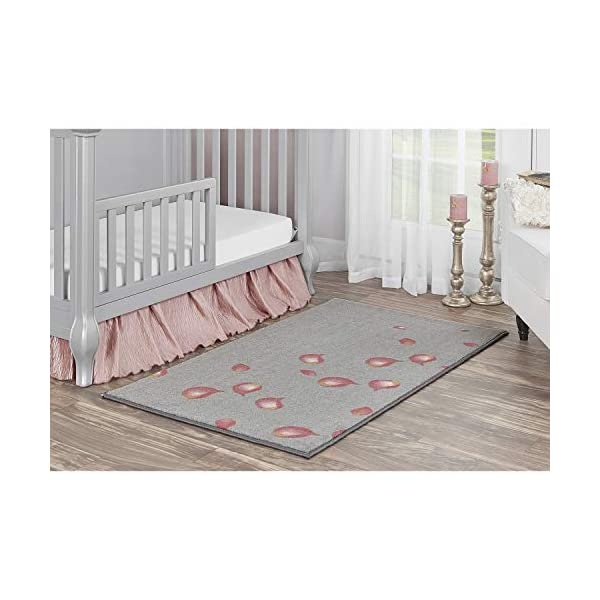 Evolur Home Aurora Pink Petals Nursery/Bedroom/Livingroom/BabyPlaymat/ChildrensRug/PlayRug/KidsRug/Floormat Rug 55'X31.5″ in Pink and Grey