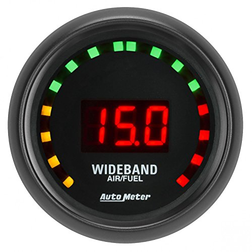 AutoMeter 2679 Z-Series Electric Air Fuel Ratio Gauge 2-1/16 in. Black Dial Face Digital LED Lighting Wideband Z-Series Electric Air Fuel Ratio Gauge