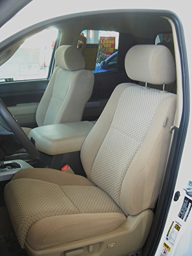 Tan Toyota Interior Cover (Durafit Seat Covers, TD9 Tan Velour, Toyota Tundra Double Cab 2 Row Set Seat Covers.)